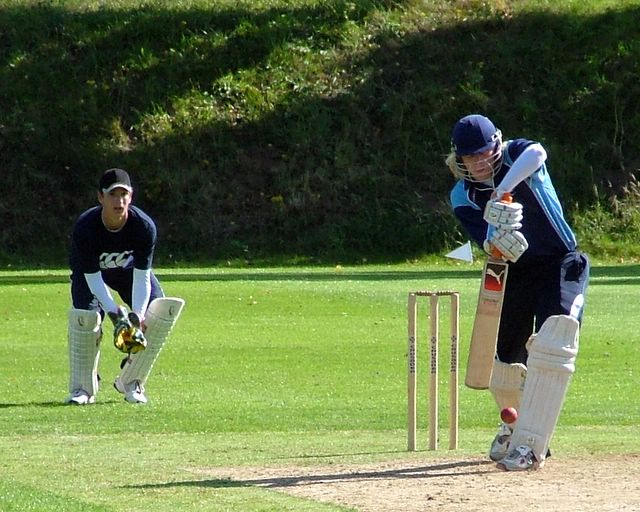 This shot has been played before the ball has been bowled - what do you mean we're not playing draws?