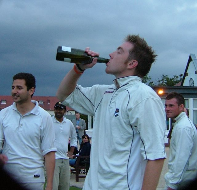 Dan just polishes off a full bottle like the pro drinker we know him to be. To be fair he did deserve it.