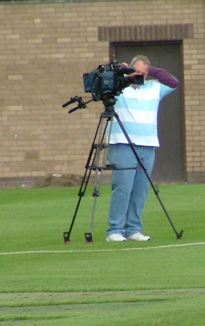 A film crew from Jersey keep tabs on the action. I say  film crew - I mean camera man.