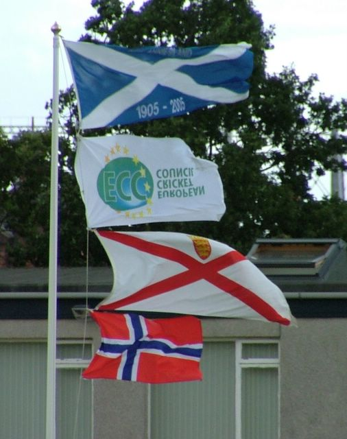 Flags flying nicely. It's a shame the ECC one is back to front.