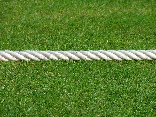 The boundary rope at Accies appears to be in excellent condition