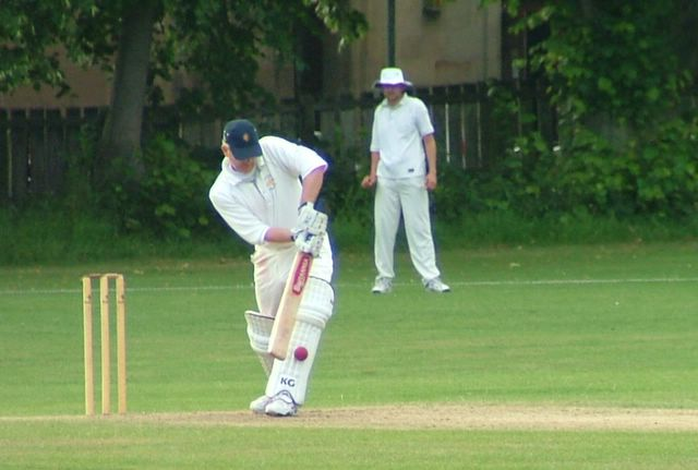 The Hillhead skipper out LBW first ball - thanks for now!
