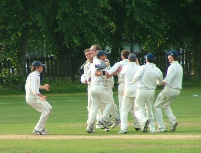 The Accies mood at the final wicket...