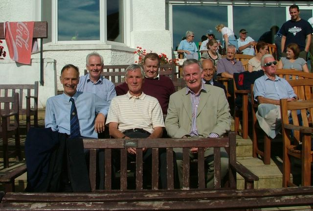 Five members of the 1968 Rowan Cup winning side, plus Jimmy